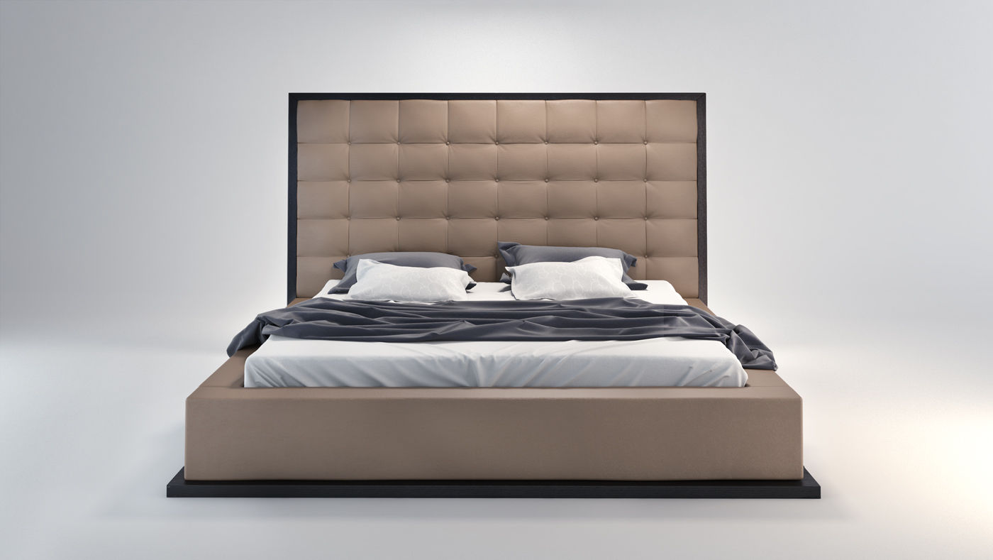 double bed  contemporary  leather  upholstered  ludlow  queen  -  double bed  contemporary  leather  upholstered ludlow  queen modloft