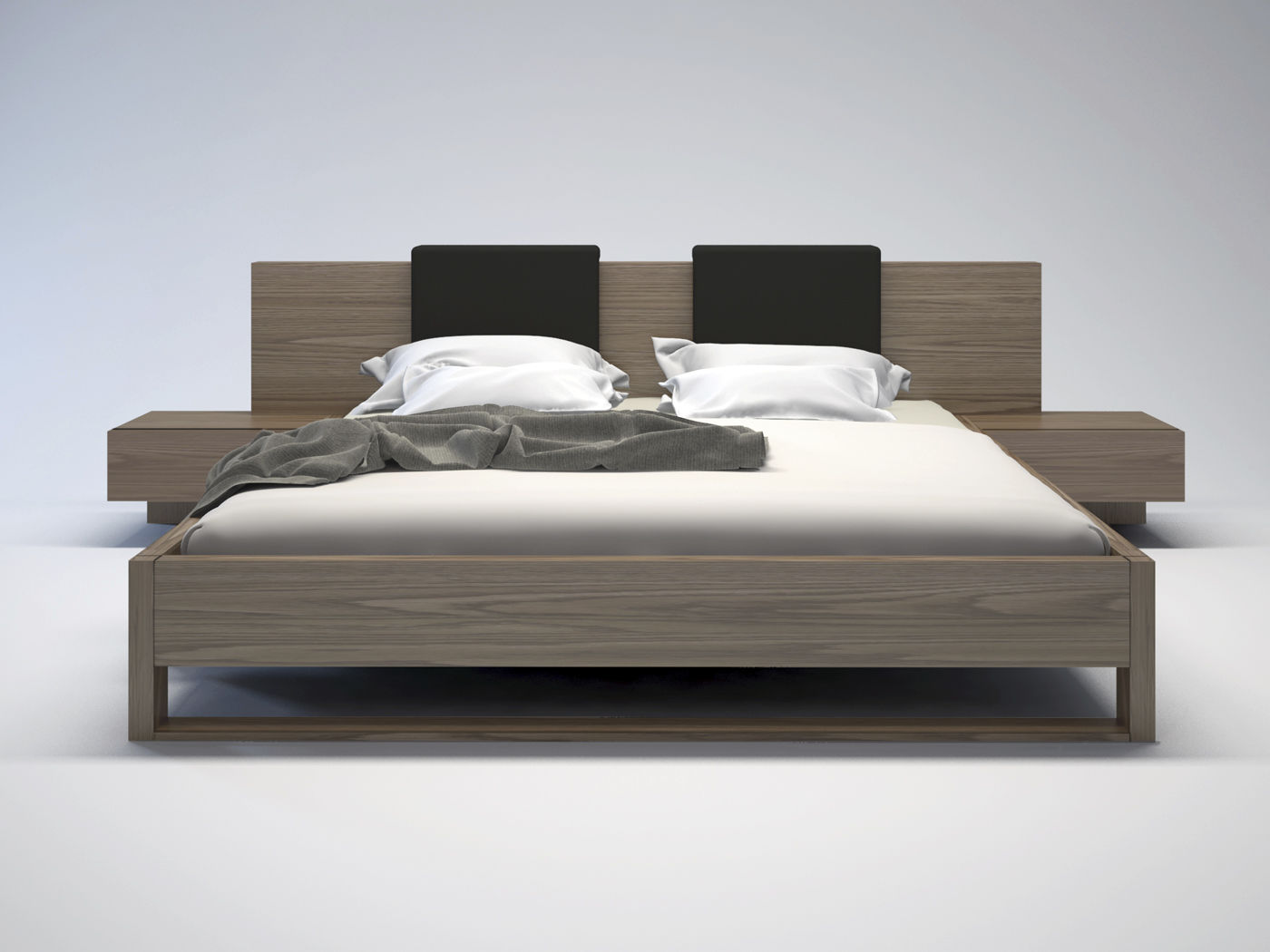 double bed  contemporary  wooden  monroe  king  modloft -  double bed  contemporary  wooden monroe  king modloft