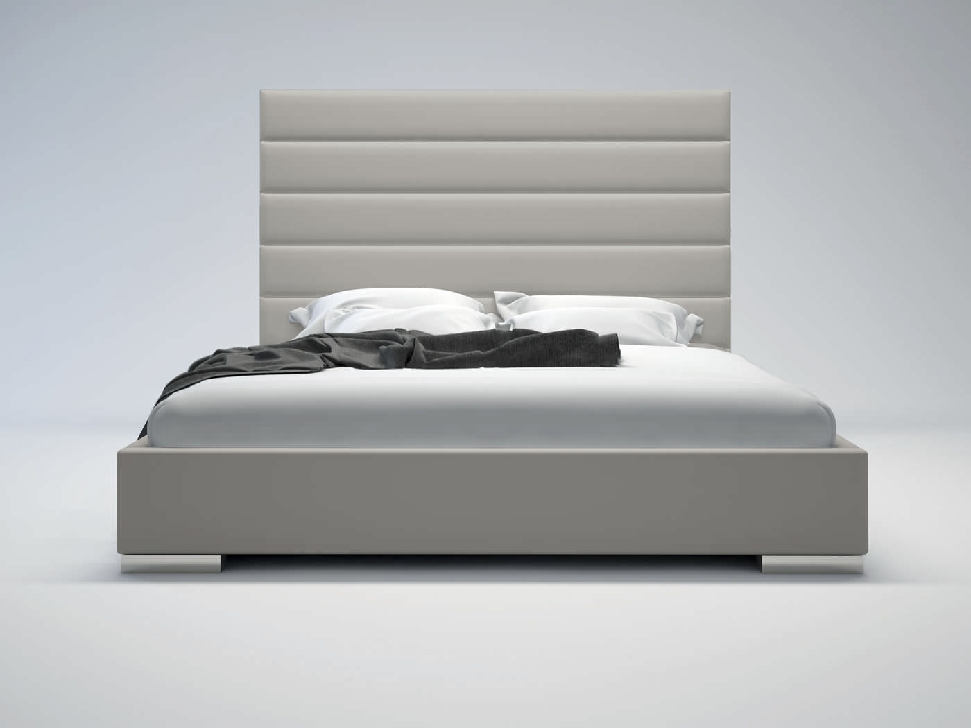 Bed headboard leather - Double Bed Leather With Upholstered Headboard