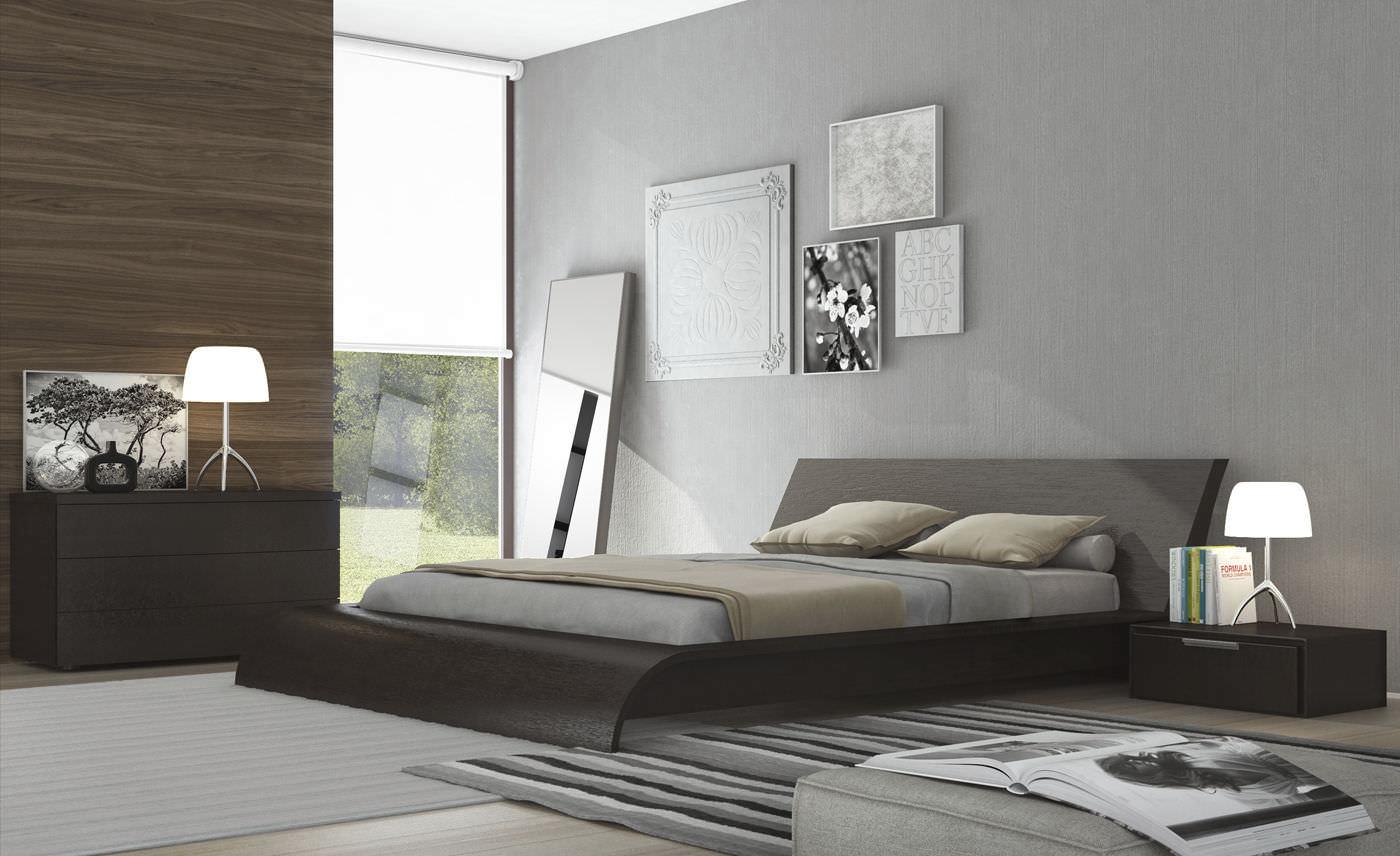 Double bed contemporary wooden WAVERLY CALKING MODLOFT