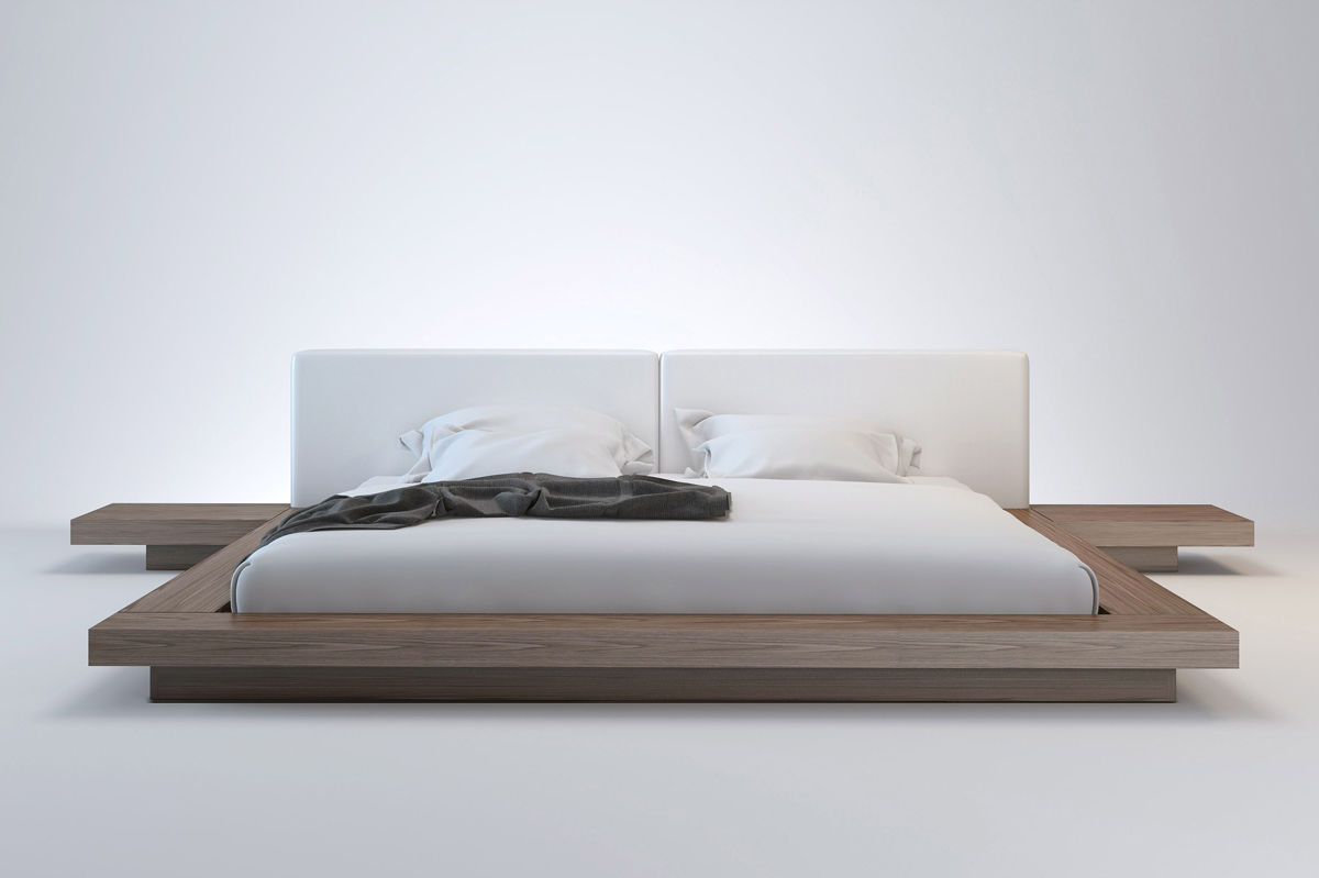 double bed contemporary walnut bed side table worth queen modloft