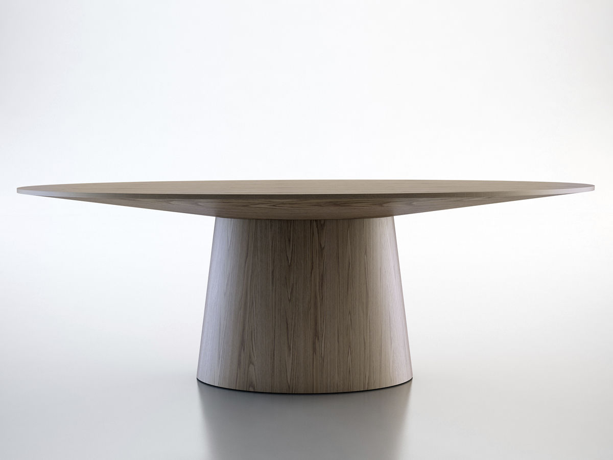 ... Contemporary Table / Wooden / Oval