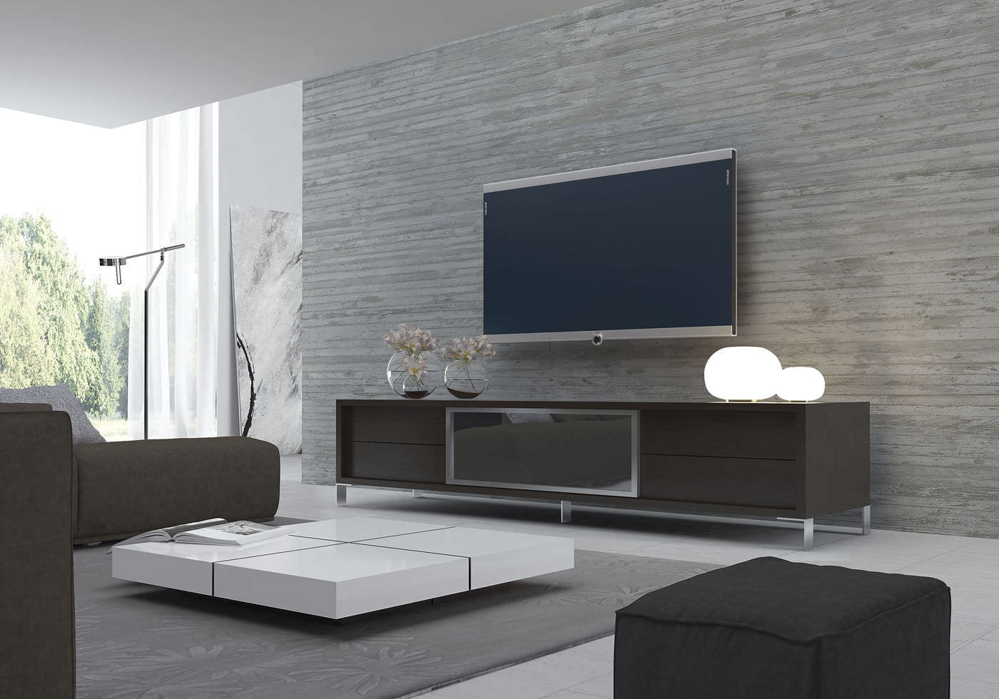 Modern Tv Cabinets Contemporary Tv Cabinet  Wooden  Lexington  Modloft
