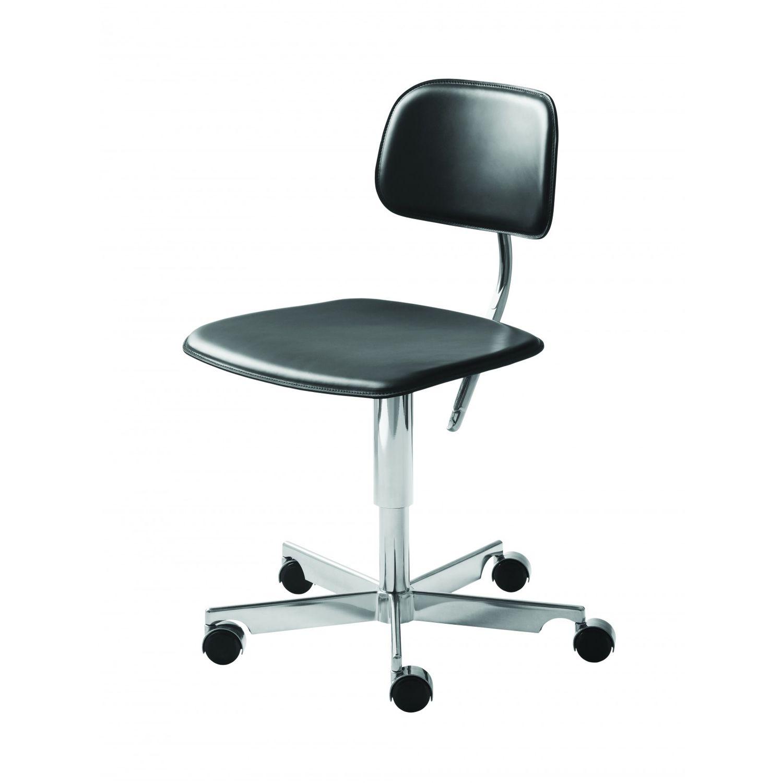 Superbe Aluminum Task Chair / Leather / Swivel / Upholstered   KEVI® 2050 By Jørgen  Rasmussen