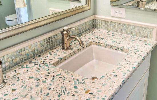 Composite Countertop / Glass / Marble / Kitchen   EMERALD COAST
