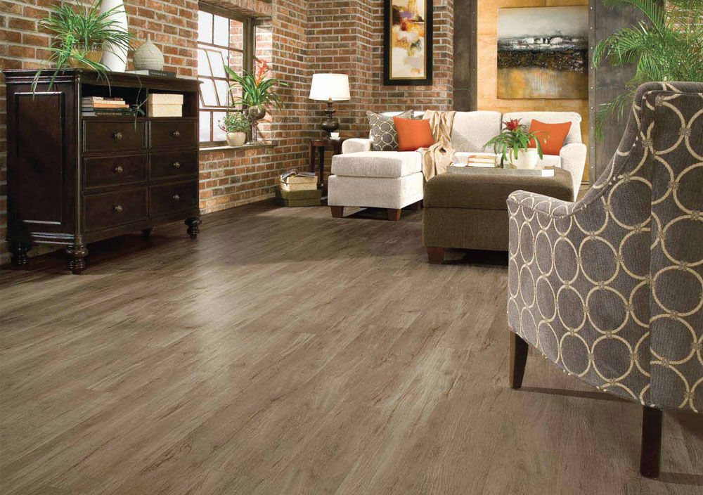 vinyl flooring / commercial / residential / strip - peel & stick