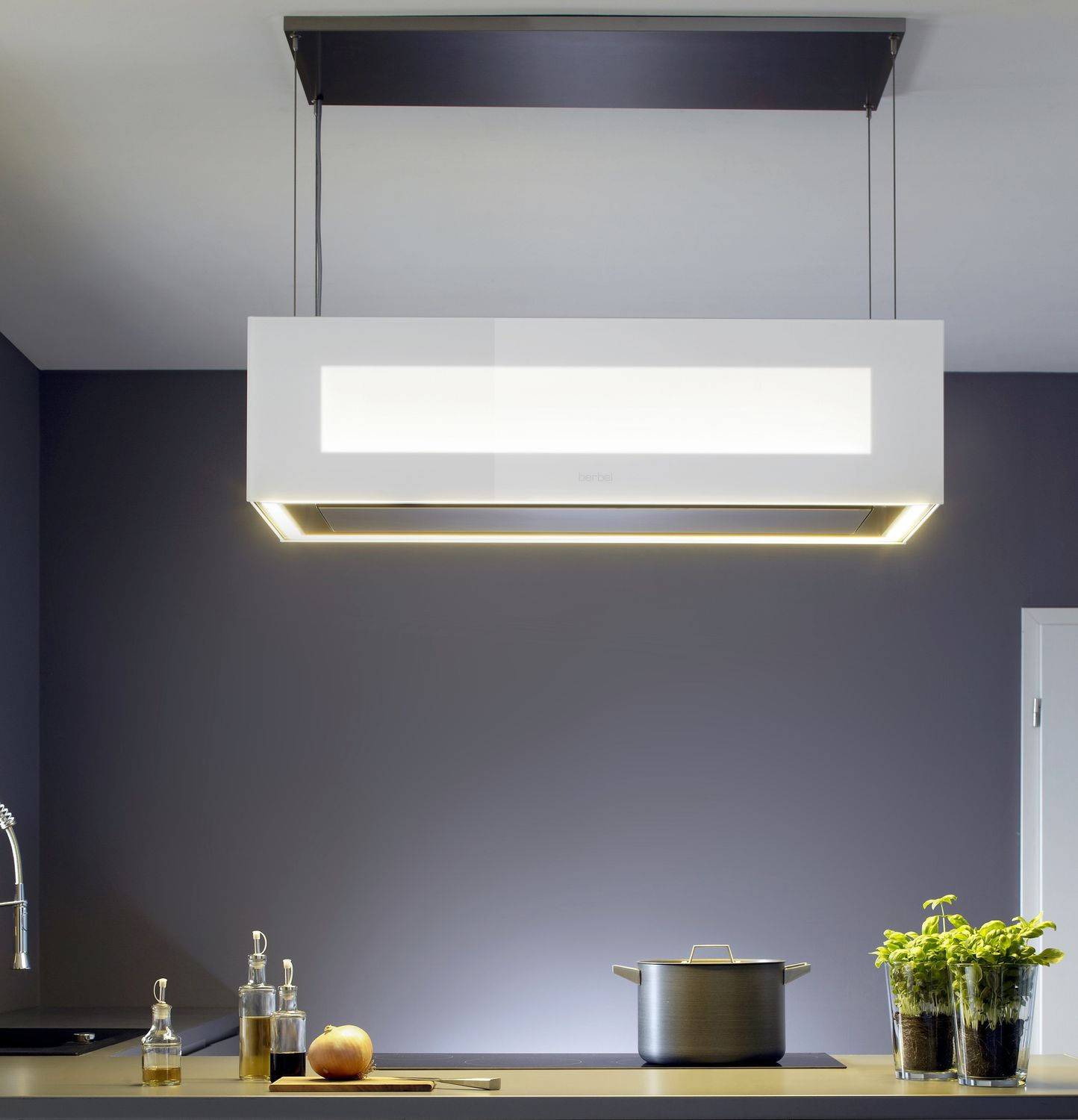 Island Range Hood Original Design With Built In Lighting