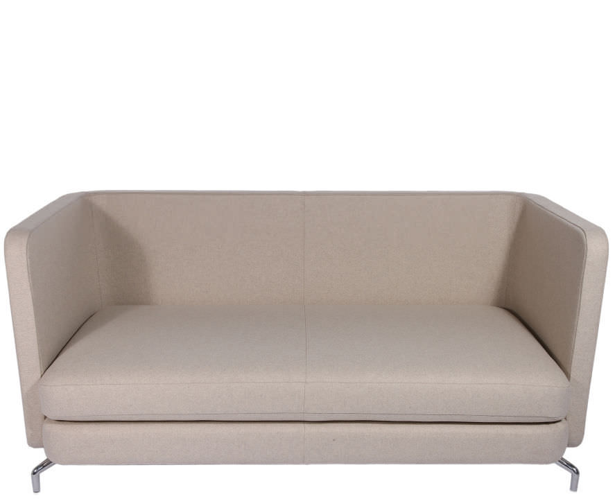 Merveilleux Contemporary Sofa / Leather / Wool / Fabric ...