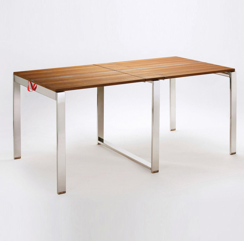 Contemporary Table / Teak / Rectangular / Garden   QUI PACK By Luca Pegolo