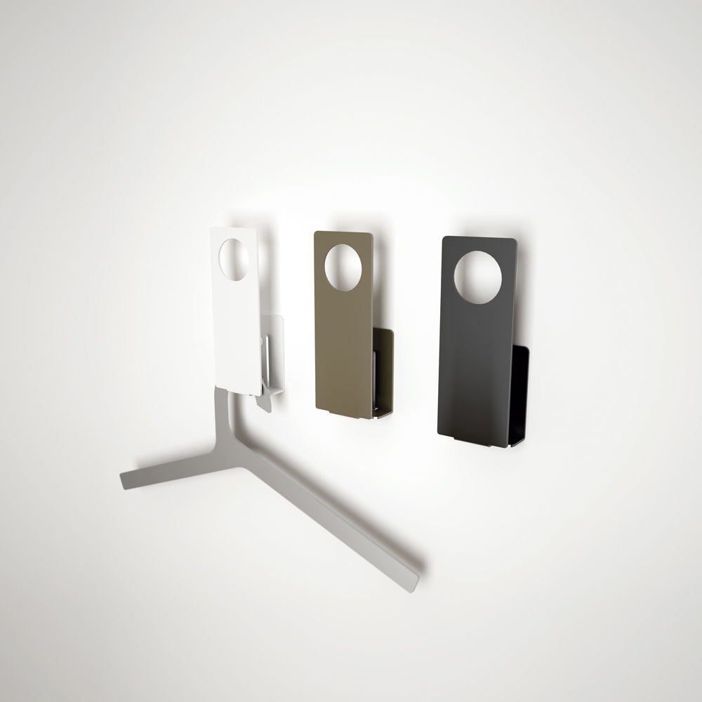 contemporary coat hook  steel  painted  commercial  buraco by  - contemporary coat hook  steel  painted  commercial  buraco by estudioenblanc
