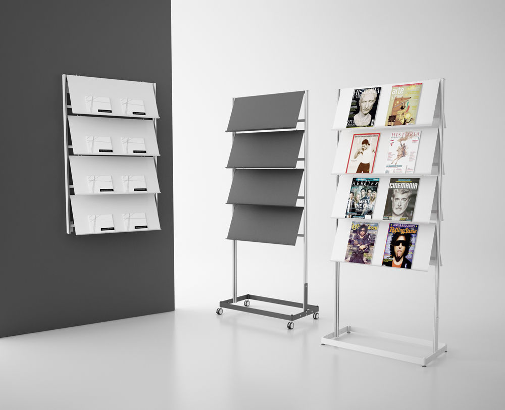 contemporary magazine rack  commercial  steel  flap by stc  - contemporary magazine rack  commercial  steel  flap by stc studio