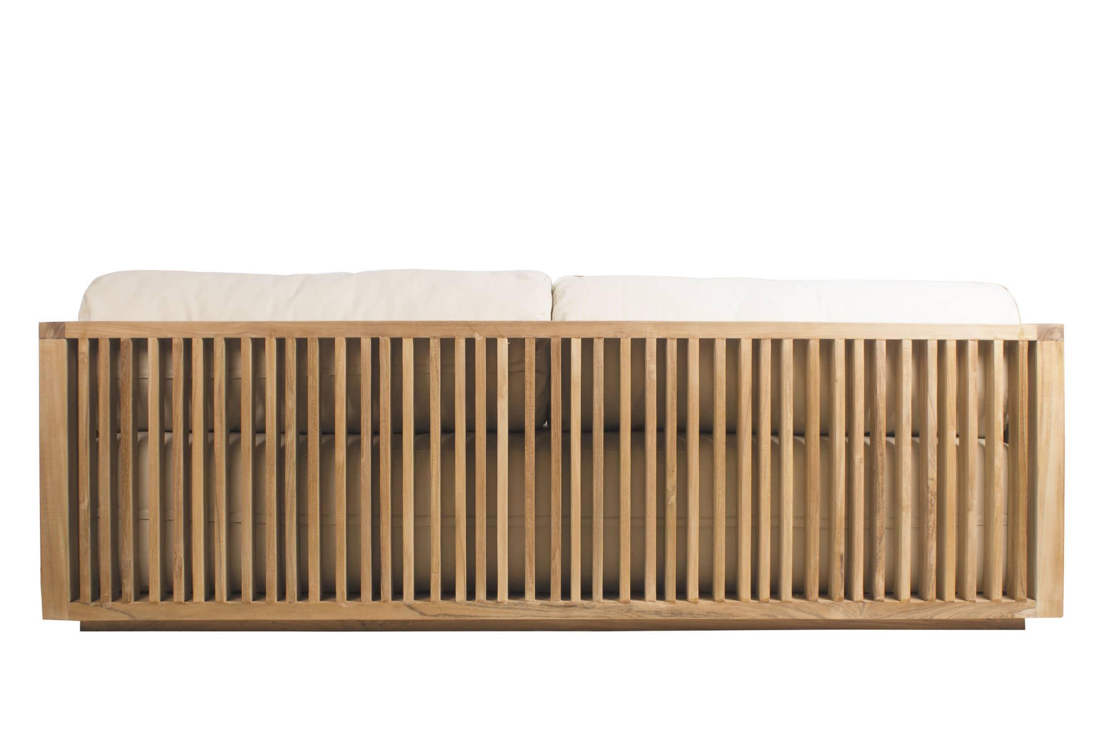 Contemporary sofa / outdoor / teak / commercial - CODE - Il Giardino ...