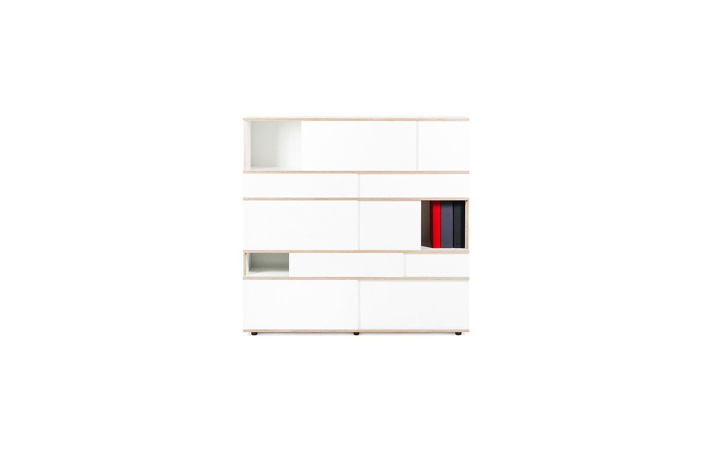 Contemporary living room wall unit / plywood - SLIDE by Alain ...