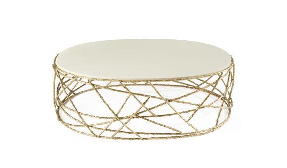 Contemporary Coffee Table / Brass / Oval   ROSEBUSH