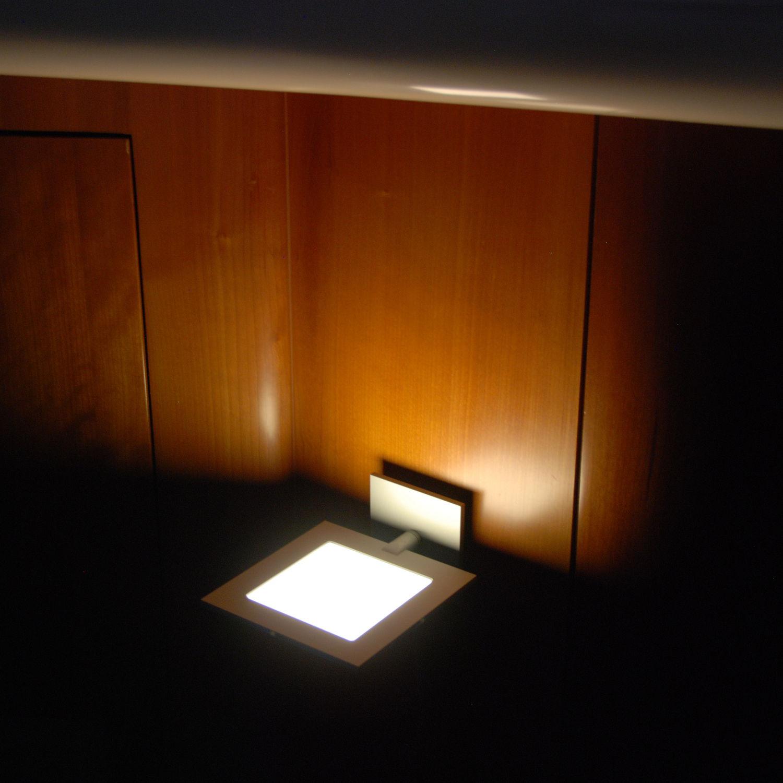 contemporary wall light aluminum oled square versa astel