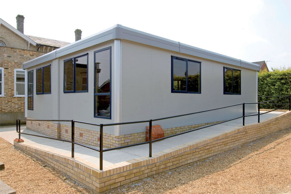 Building Modular prefab building / modular / for offices / galvanized steel - titan