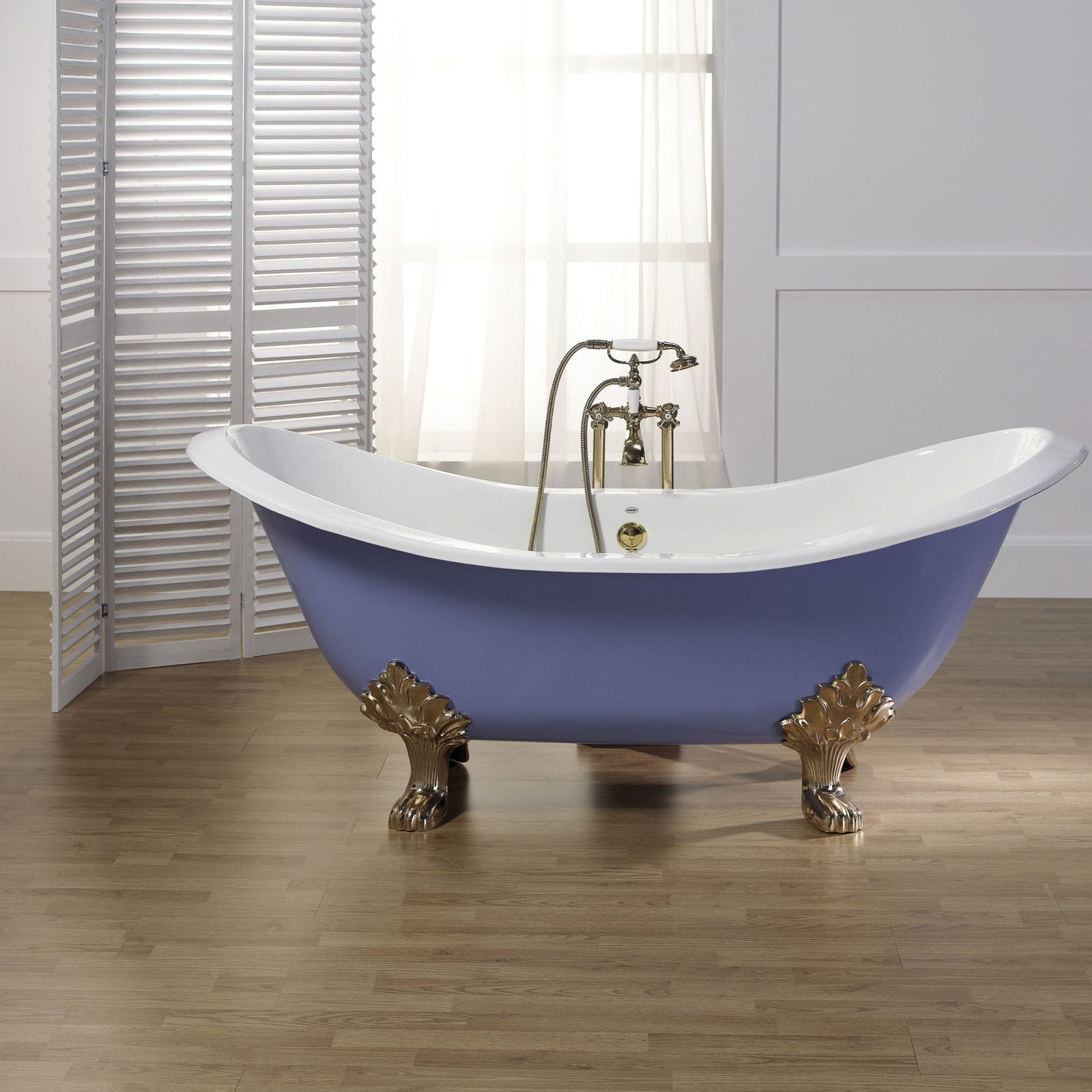 Bathtub with legs / oval / cast iron - ANTIQUE - RECOR