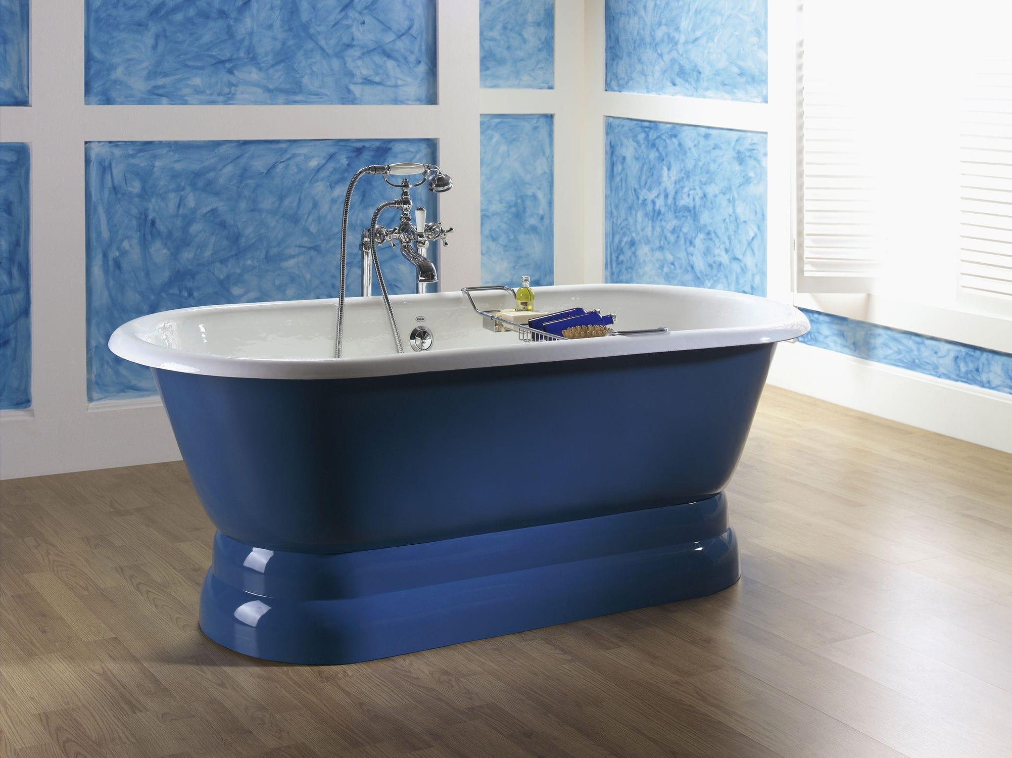 Bathtub with legs / oval / cast iron - DUAL - RECOR