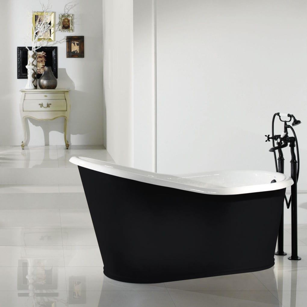 Free-standing bathtub / oval / cast iron / copper - DAKOTA - RECOR