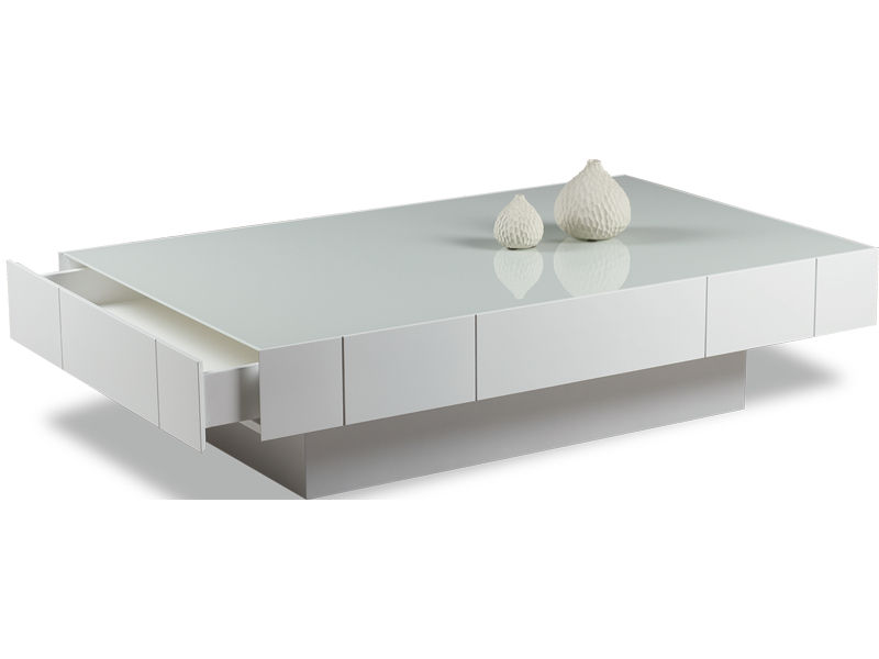 contemporary coffee table / oak / crystal / rectangular - box