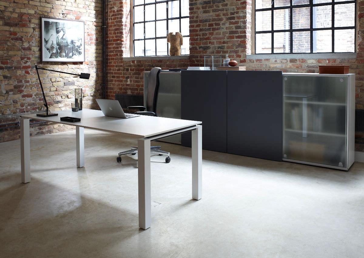Low filing cabinet / tall / metal / glass - CREATION 25 - Hund Büromöbel
