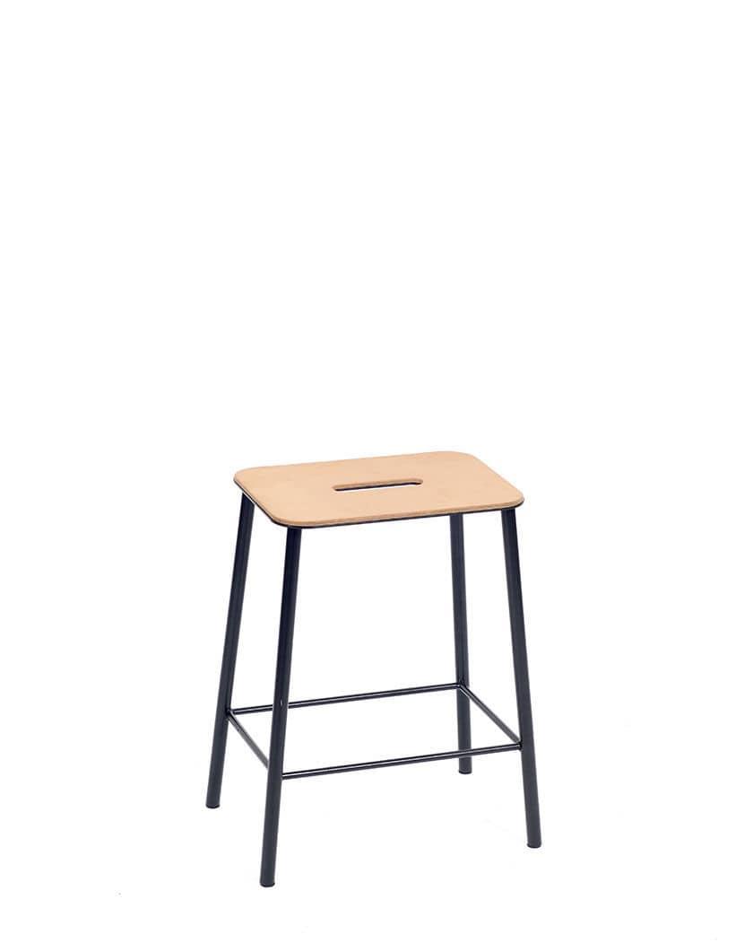 Industrial Style Bar Stool / Wooden / Steel   ADAM By Toke Lauridsen