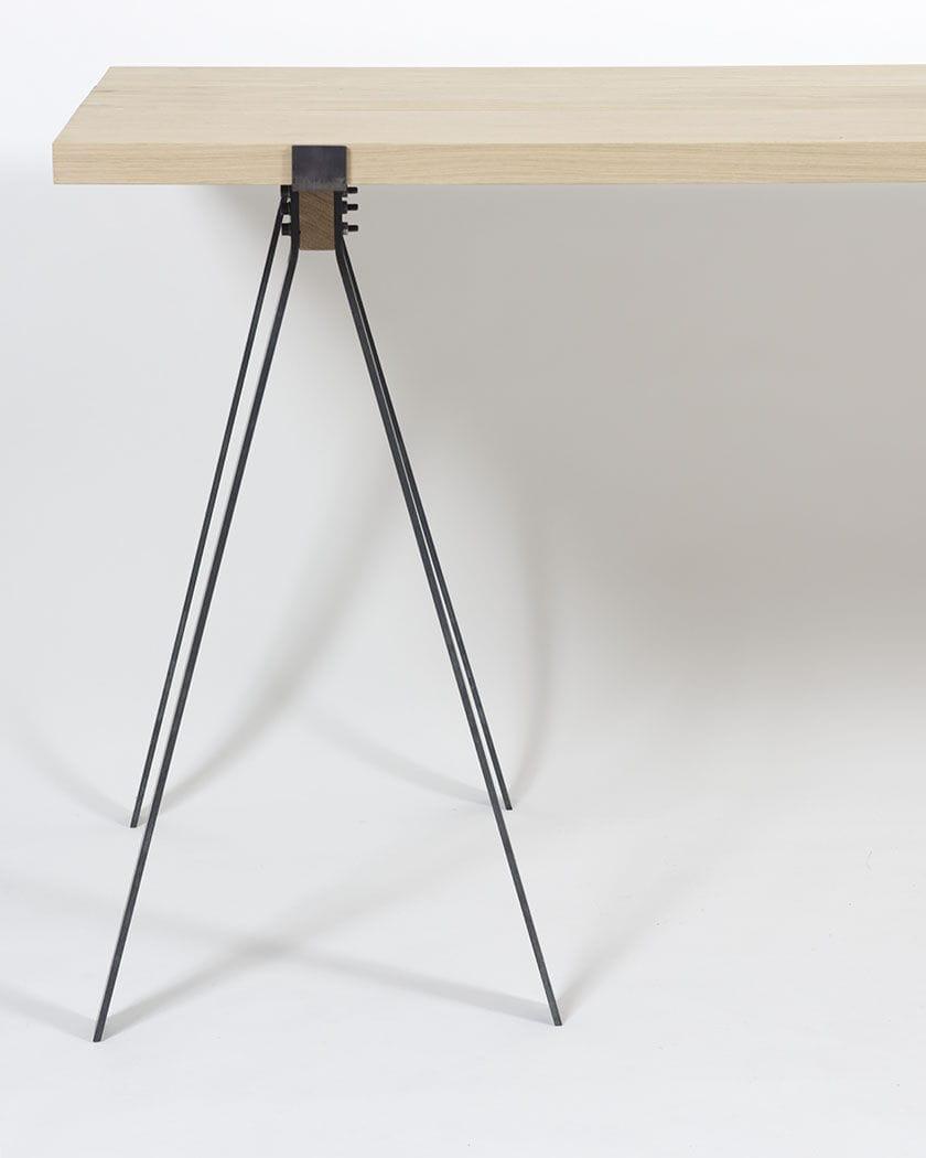 ... Contemporary Table / Oak / Metal / Rectangular