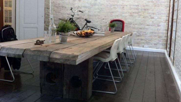 contemporary dining table / wooden / rectangular - uniq - thors design