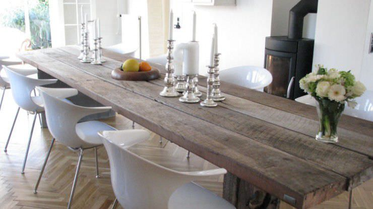 contemporary dining table wooden steel oval