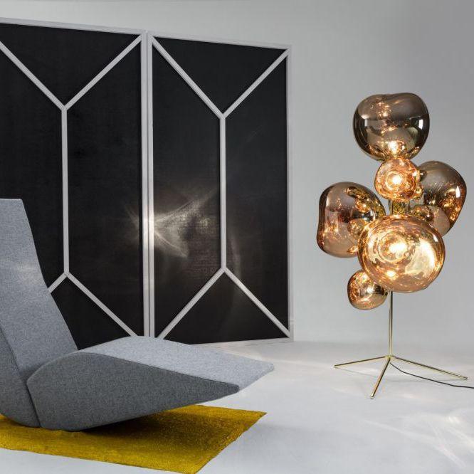 Floor Standing Lamp Original Design Steel Polycarbonate Melt