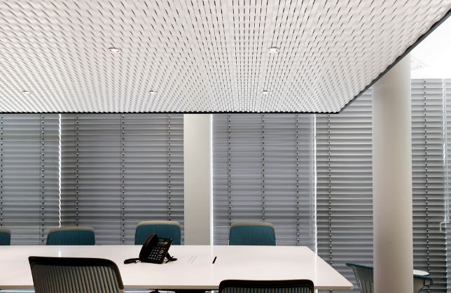 Mdf suspended ceiling / floating / acoustic   vime ac   planoffice