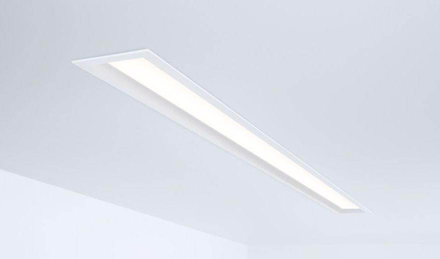 Recessed ceiling light fixture / LED / linear / extruded aluminum ...