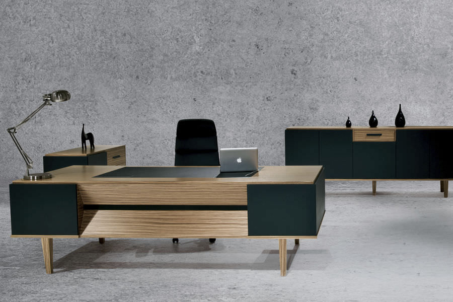 Wood Desks For Office Executive Desk Wooden Contemporary Commercial Erva