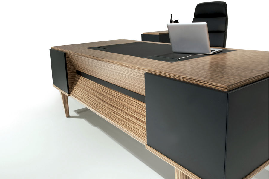 Executive Desk Wooden Contemporary Commercial ERVA SOLENNE New Modern Wood Office Furniture