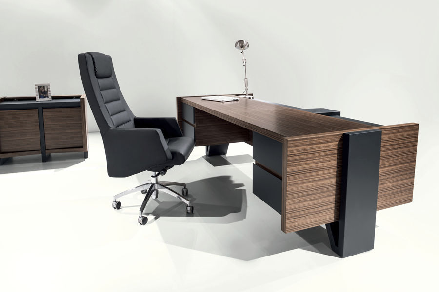 Executive desk / wooden / contemporary / commercial - ROSSI ...