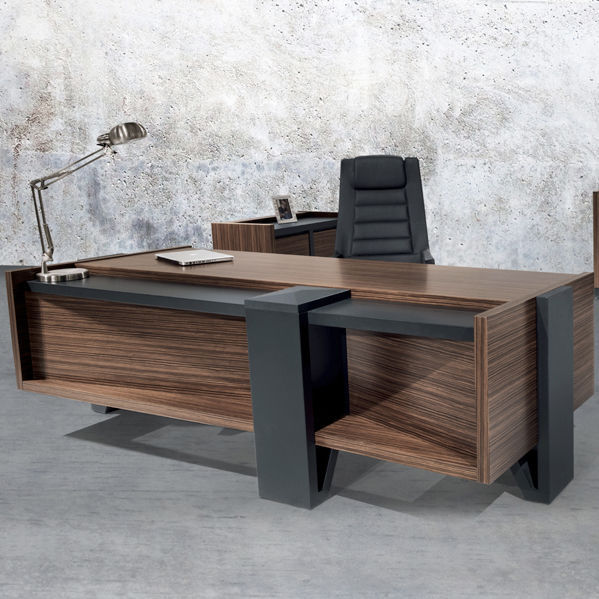 Executive Desk / Wooden / Contemporary / Commercial ROSSI SOLENNE OFFICE  FURNITURE ...