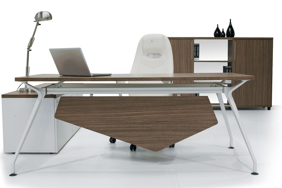 executive desk / wooden / metal / contemporary - neptun - solenne