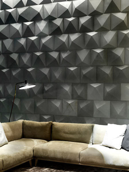 decorative panel / concrete / wall-mounted / textured - d_angle