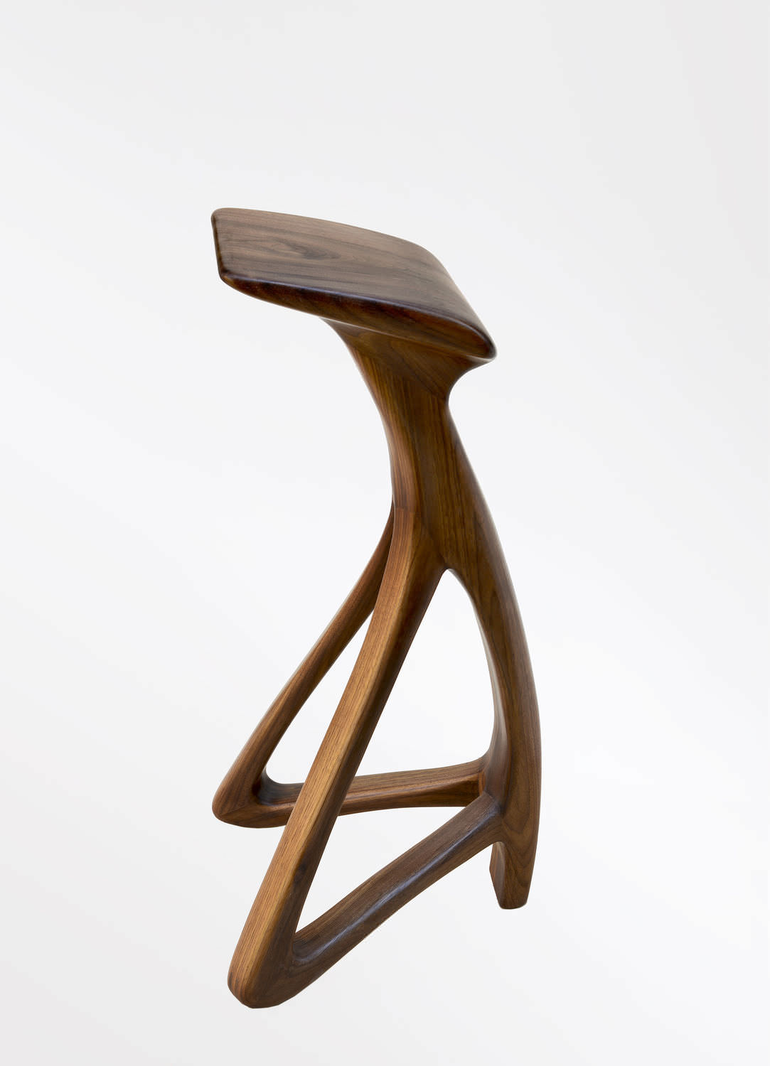 Original design bar stool / walnut / commercial LOLA Dimisco ... & Original design bar stool / walnut / commercial - LOLA - Dimisco islam-shia.org