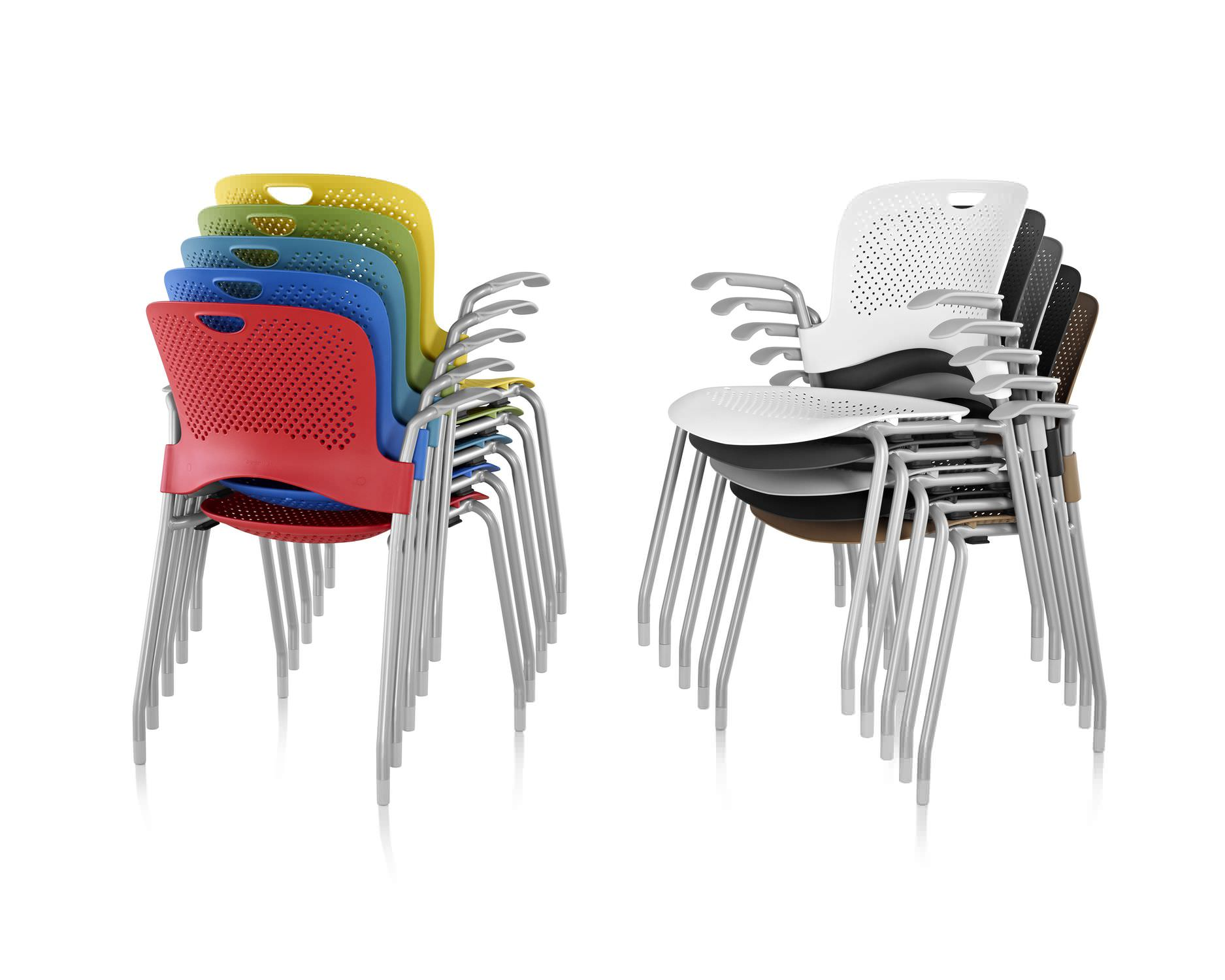contemporary visitor chair / fabric / polypropylene / with