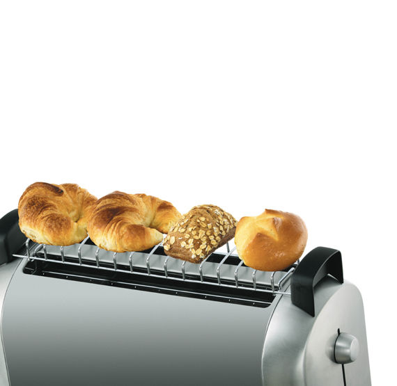 black 2 slice long slot toaster