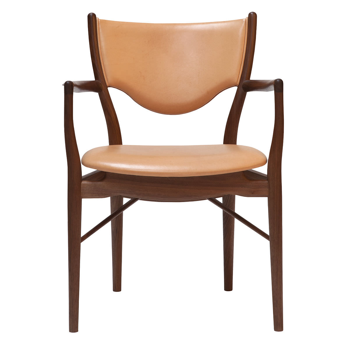 Wooden chairs with armrest - Scandinavian Design Chair Fabric Wooden Upholstered 46