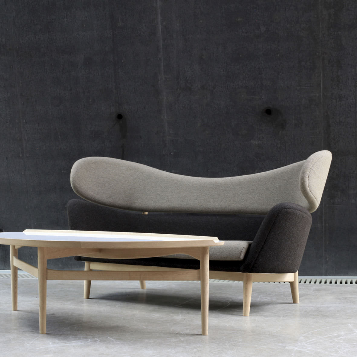 Finn juhl the baker sofa -  Scandinavian Design Sofa Wool Teak Walnut Baker One Collection
