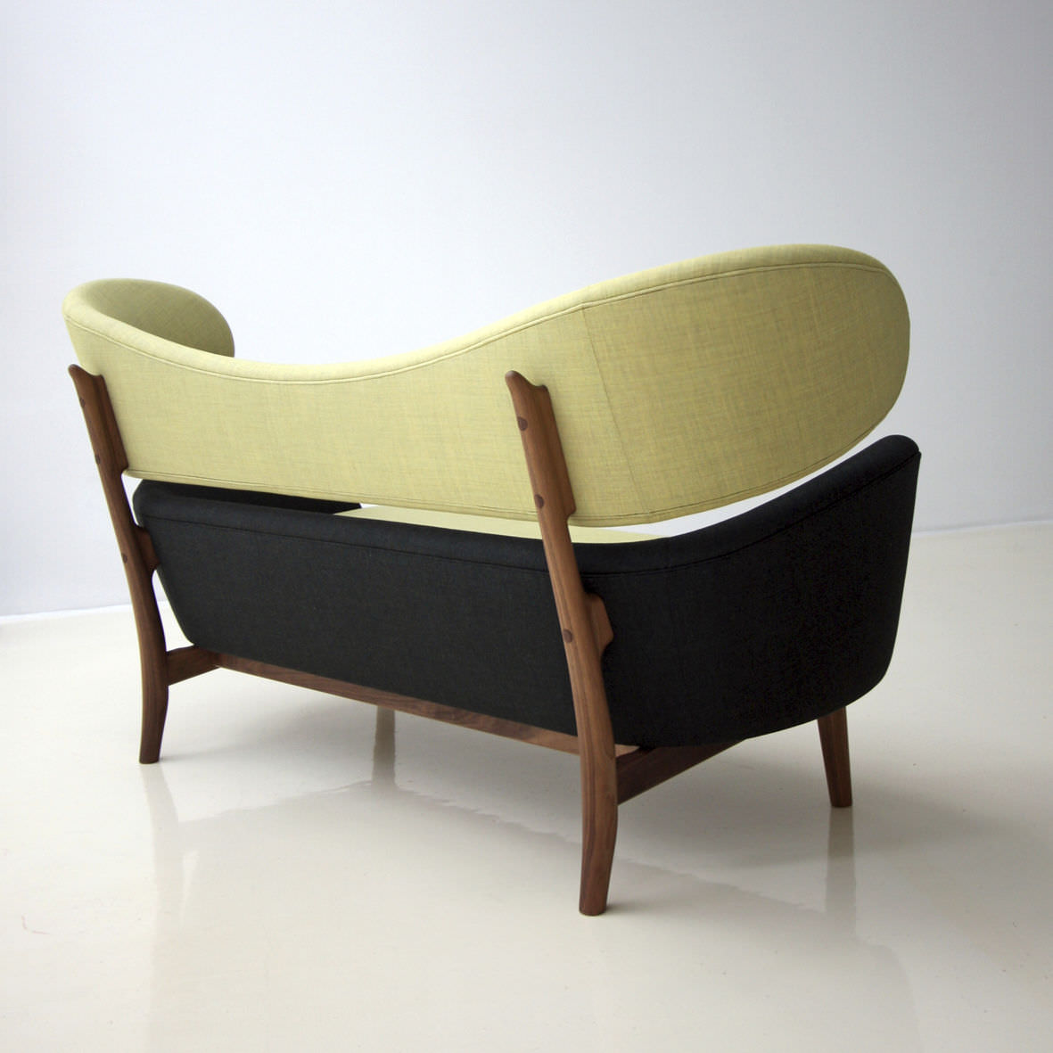 Scandinavian design sofa / wool / teak / walnut - BAKER - ONE ...