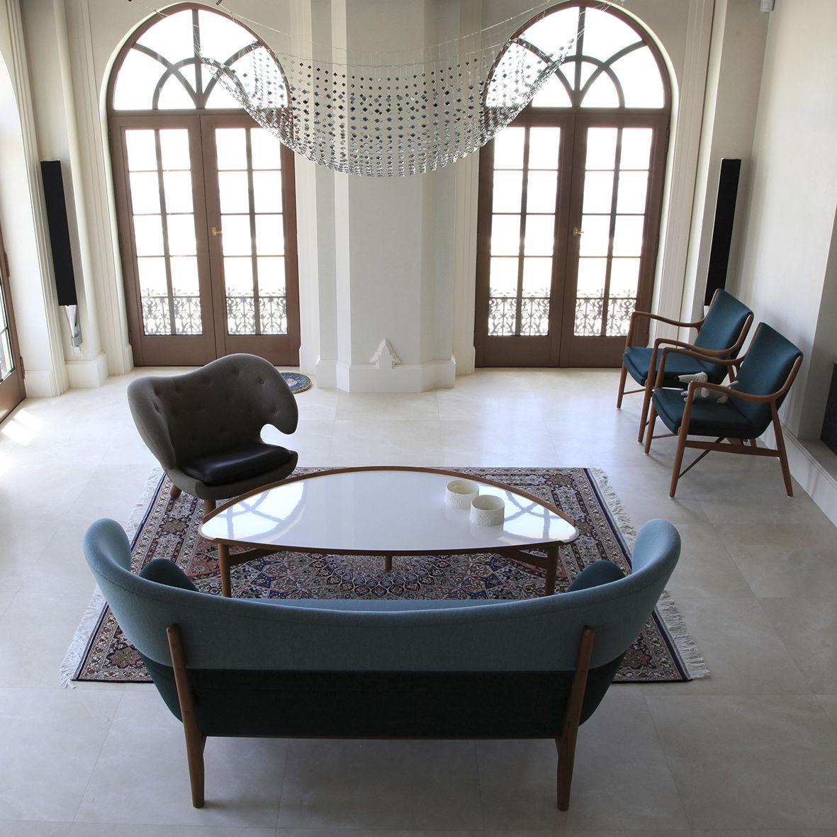 Etonnant ... Scandinavian Design Coffee Table / Oak / Walnut / Half Moon ...