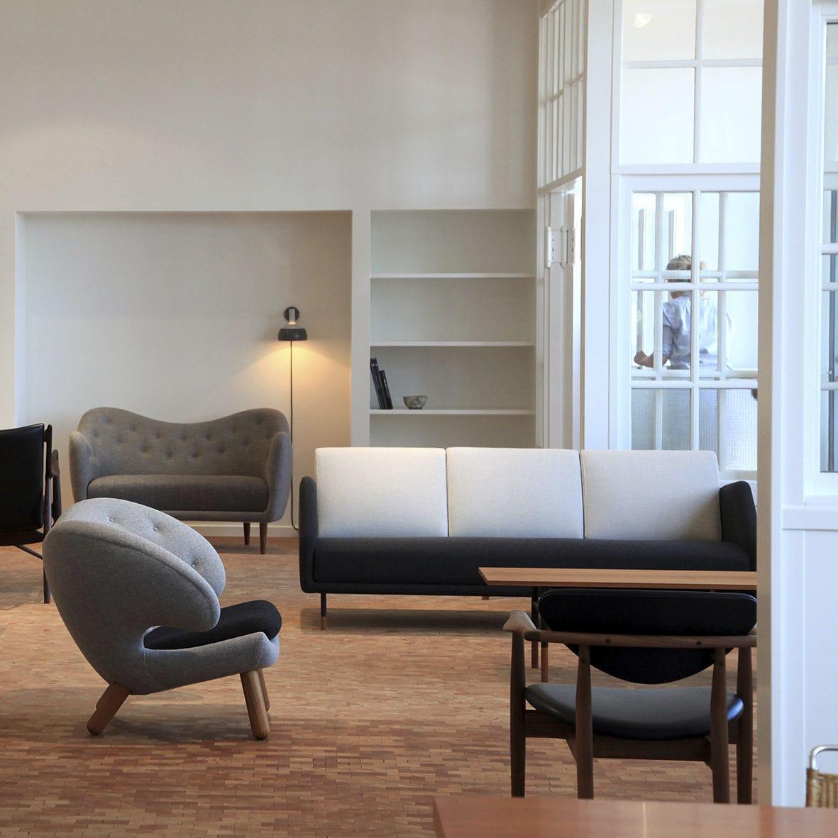 Finn juhl the baker sofa -  Scandinavian Design Sofa Fabric By Finn Juhl 3 Seater 53 One Collection