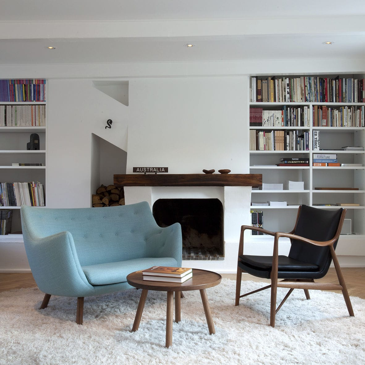 Scandinavian Design Sofa Wood Fabric By Finn Juhl
