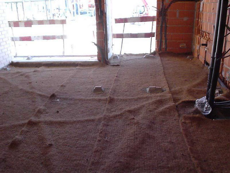 Thermalacoustic insulation coconut fiber for floors