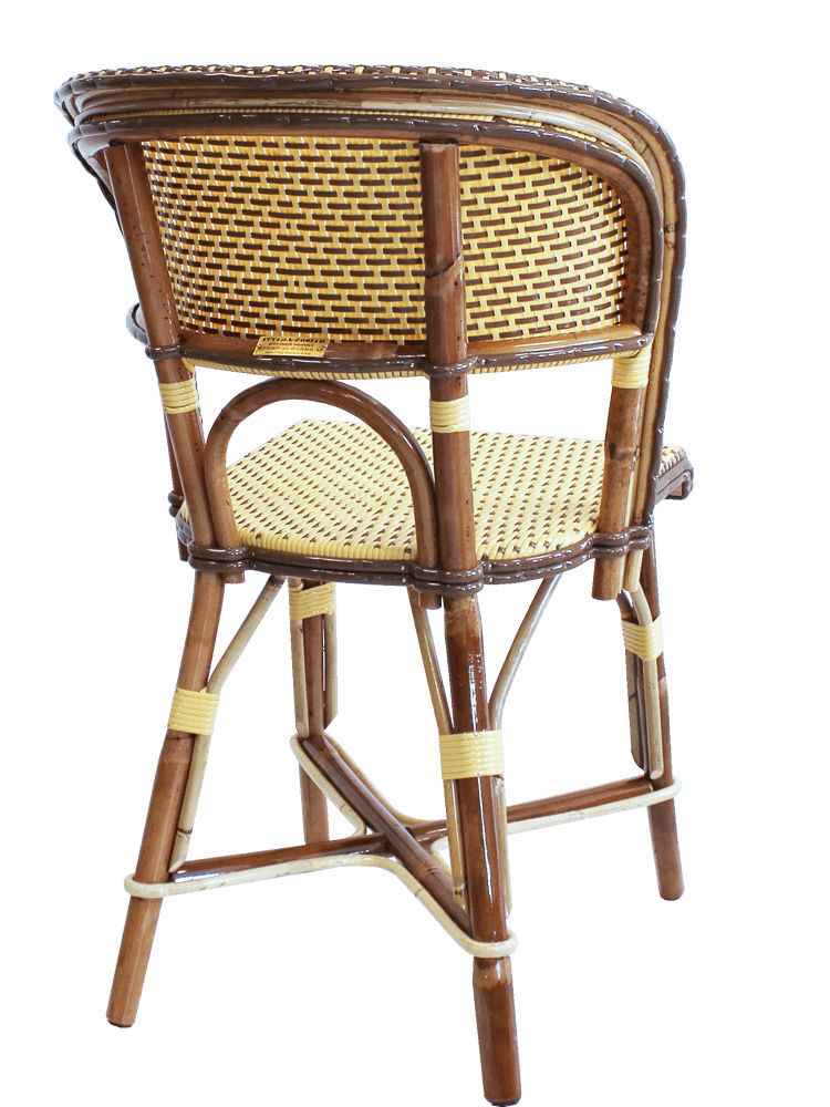 Traditional restaurant chair / rattan / bentwood / golden - PROSPERE ...