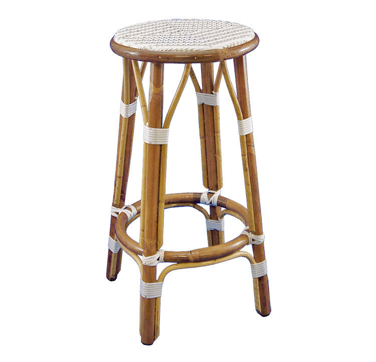 traditional bar stool rattan bentwood commercial